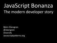The modern developer story - Jfokus