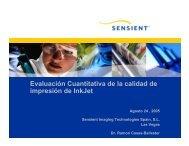 Evaluación Cuantitativa de la calidad de impresión de InkJet