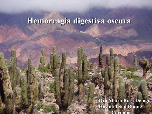 Hemorragia digestiva Oscura - Asociación de Gastroenterología y ...
