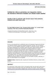 Calidad de vida en pacientes con isquemia crónica de ... - SciELO