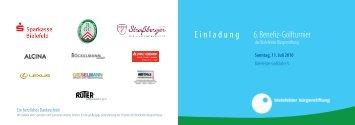 Einladung 6. Benefiz-Golfturnier - Bielefelder Bürgerstiftung