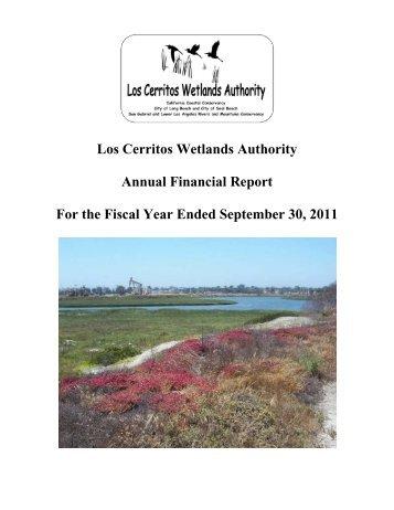 Los Cerritos Wetlands Authority FY 2011 - Long Beach City Auditor
