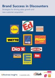 Brand Success in Discounters - Business Insights