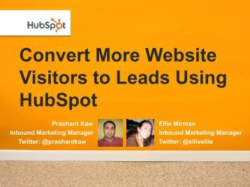 Convert More Website Visitors to Leads Using HubSpot