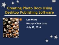 Creating Photo Docs Using Desktop Publishing Software