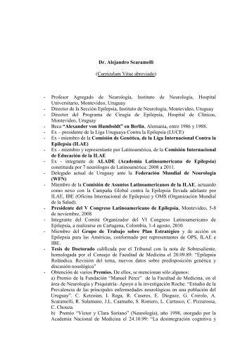 Dr. Alejandro Scaramelli (Curriculum Vitae abreviado ... - Kenes