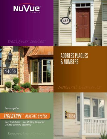 NuVue House Address Plaques and Numbers-4 - NuVue Products