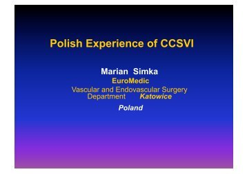 Polish Experience of CCSVI - Essential Health Clinic