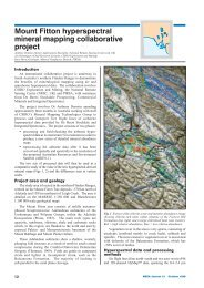 Mount Fitton hyperspectral mineral mapping collaborative ... - PIRSA