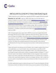 LIME Selects EXA Powered Calix E7 for 12 Nation Mobile Backhaul ...