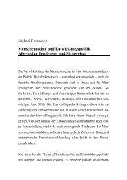 Menschenrechte und Entwicklungspolitik Allgemeine Tendenzen ...