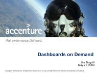 Dashboards on Demand - Montgomery AFCEA Chapter