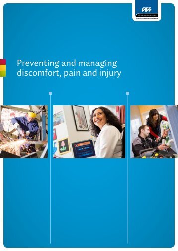 Preventing and managing discomfort, pain and injury - ACC
