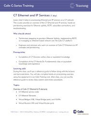 Calix C-Series Training C7 Ethernet and IP Services (1 day)