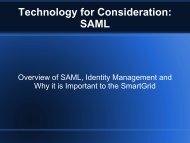 Technology for Consideration: SAML