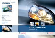 Bosch-Lichttechnik: Highlights - Bosch - Werkstattportal