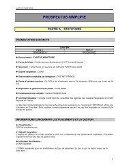 PROSPECTUS SIMPLIFIE - Crédit Agricole Sud Rhône Alpes