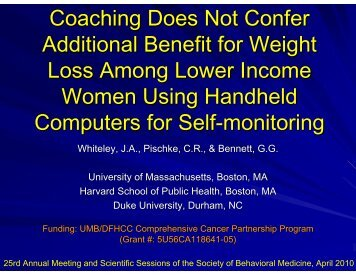 Coaching Does Not Confer Additional Benefit for Weight Loss ...
