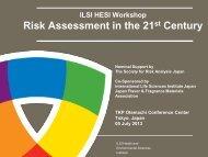 Workshop Agenda - ILSI Health and Environmental Sciences Institute