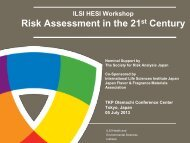 Workshop Agenda - ILSI Health and Environmental Sciences Institute