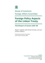 Foreign Policy Aspects of the Lisbon Treaty - United Kingdom ...