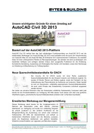 AutoCAD Civil 3D 2013 - Bytes & Building GmbH
