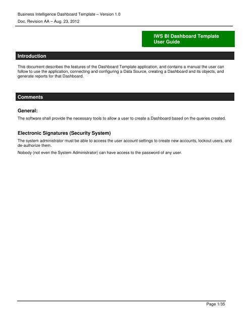 Business Intelligence Requirements Template from img.yumpu.com