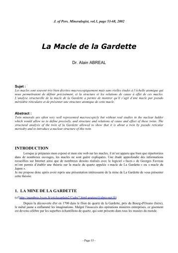 La Macle de la Gardette vf - Page perso minéraux Alain ABREAL ...