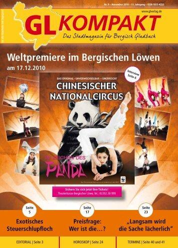Weltpremiere im Bergischen Löwen - GL VERLAGS GmbH