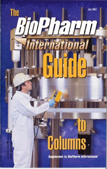 BioPharm Guide International Guide to Columns - Clarkson University