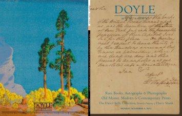 Rare Books, Autographs & Photographs Old ... - Doyle New York
