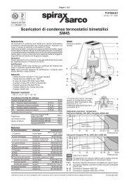 Scaricatori di condensa termostatici bimetallici SM45