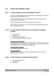 4.16 FÜGEN UND TRENNEN: LÖTEN 4.16.1 Was verstehen wir ...