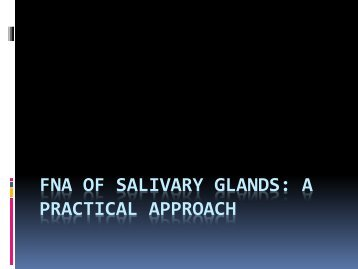 FNA of Salivary glands a practical approach for Sudan