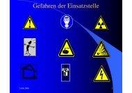 Gefahren der Einsatzstelle - Freiwillige Feuerwehr Pflugdorf-Stadl
