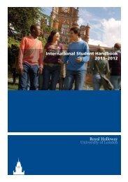 International Student Handbook 2011–2012 - Royal Holloway ...