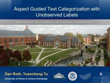 slides - University of Illinois at Urbana-Champaign