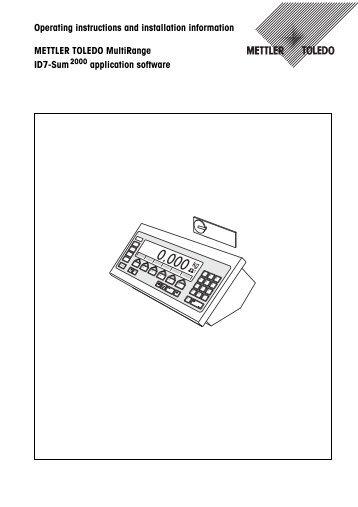 Mettler toledo 8624 manual