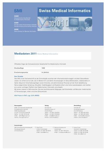 SMI Swiss Medical Informatics - Mediadaten 2011 - Schwabe