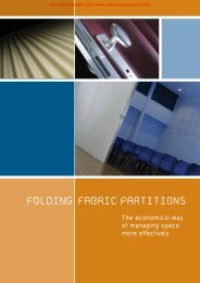 Folding Fabric Partitions Brochure - Barbour Product Search