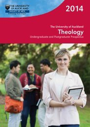 2014 Theology Prospectus - Faculty of Arts - The University of ...
