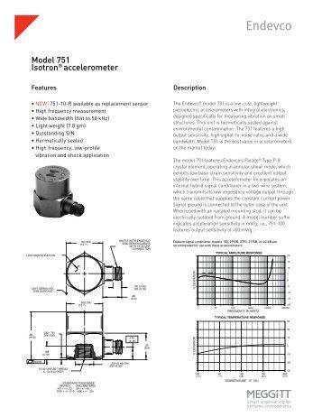 Model 751 Isotron® accelerometer - Endevco