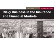 Risky Business in the Insurance and Financial Markets - LawInContext