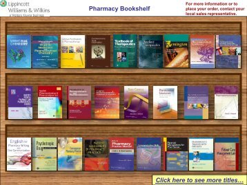 Pharmacy Bookshelf - Lippincott Williams & Wilkins