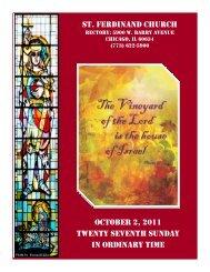 st. ferdinand church october 2, 2011 twenty seventh sunday in ...