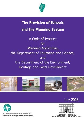 Provision of Schools and the Planning System - Department of ...