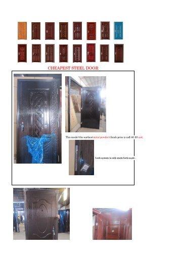 CHEAPEST STEEL DOOR - Gomez Ossa International