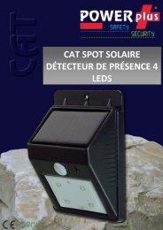 cat spot solaire détecteur de présence 4 leds - Eqwergy