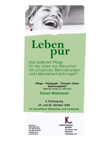 Pädagogik – Therapie: (K)ein Spannungsfeld? - Stiftung Leben pur