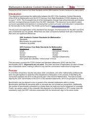 Mathematics Academic Content Standards Crosswalk - Mayfield City ...